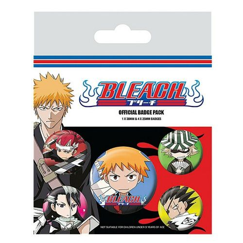 Bleach Chibi Characters Button Badge Pack